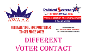 Different VOTER CONTACT ACTIVITIES By Election Awaaz